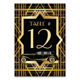 Roaring Twenties Gatsby Style Table Number Card