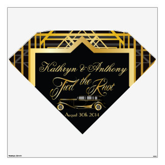 Roaring Twenties Gatsby Style Wall Decal Marquis