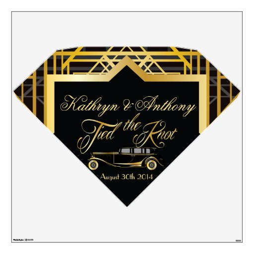 Roaring Twenties Gatsby Style Wall Decal Marquis