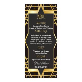 Roaring Twenties Gatsby Style Wedding Menu 4x9.25 Paper Invitation Card