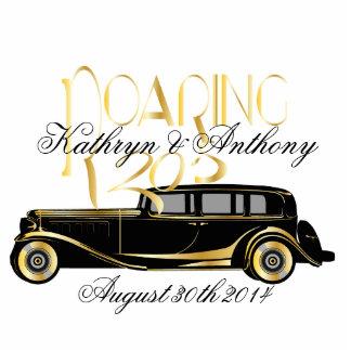 Roaring Twenties Gatsby Style Wedding Sculpture Cut Out