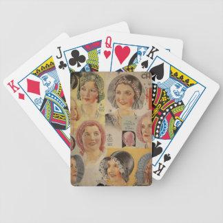 Roaring Twenties Hat Advertisement Bicycle Playing Cards