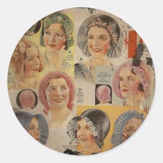 Roaring Twenties Hat Advertisement Classic Round Sticker