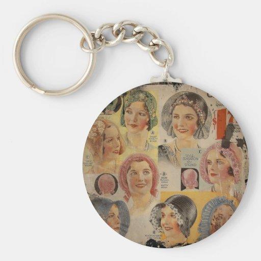 Roaring Twenties Hat Advertisement Basic Round Button Keychain