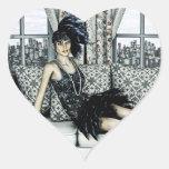 Roaring Twenties Heart Sticker