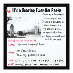 "Roaring Twenties  Party 5.25"" Square Invitation Card"