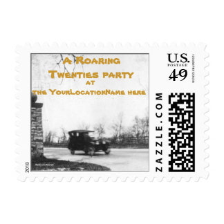 Roaring Twenties Party Invitation personalized Postage