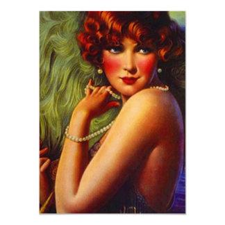Roaring Twenties Pearls Plumes Flapper Invitation