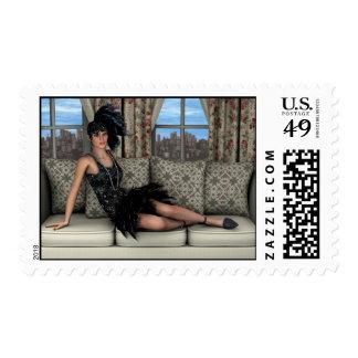Roaring Twenties Postage Stamp
