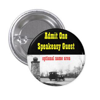 Roaring Twenties Prohibition Theme Name Badge Pinback Button