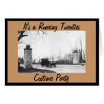 Roaring Twenties Theme Costume Party Card