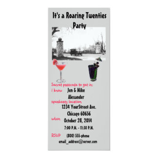 Roaring Twenties Theme Party Invite