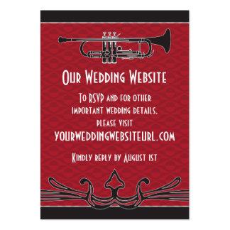 Roaring Twenties Trumpet Wedding Website Insert Business Card