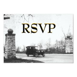 Roaring Twenties Wedding  Guest Reply RSVP Card