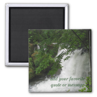 Roaring Waterfall 2 Inch Square Magnet