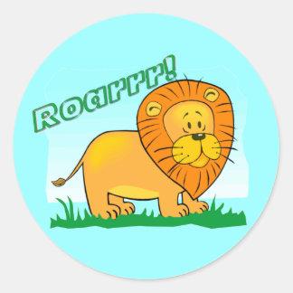 ¡Roarrr! Pegatinas del león Pegatina Redonda
