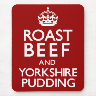 Roast Beef and Yorkshire Pudding Mouse Pad