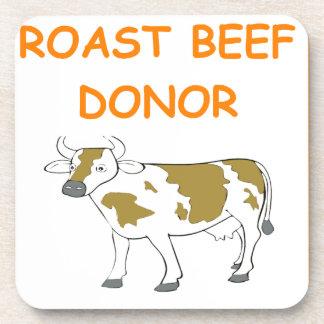 roast beef drink coasters