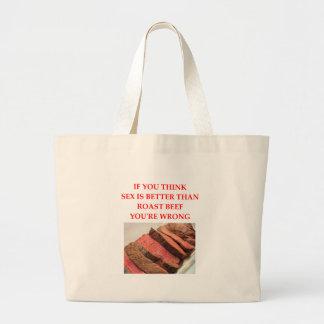 roast beef large tote bag