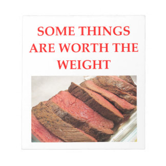 roast beef notepad
