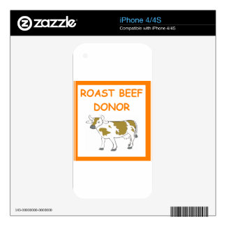 roast beef skin for iPhone 4