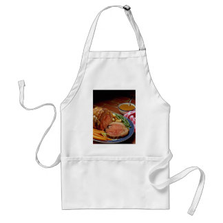 Roast beef with carrots adult apron