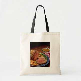 Roast beef with carrots budget tote bag