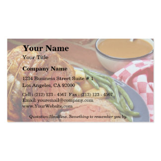 Roast beef with carrots Double-Sided standard business cards (Pack of 100)