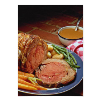 Roast beef with carrots 5x7 paper invitation card
