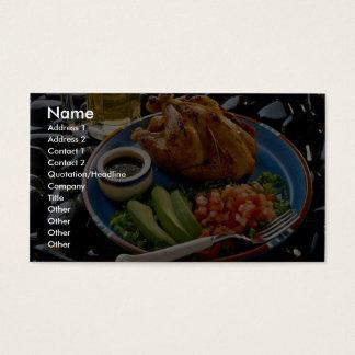 Roast chicken business card