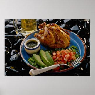 Roast chicken poster