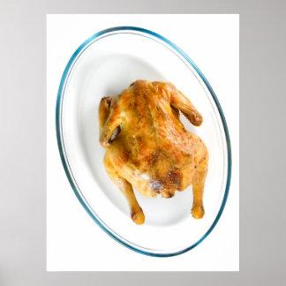 Roast chicken print