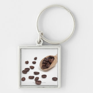 roast coffee beans with scoop keychain