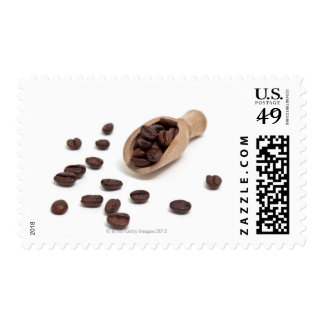 roast coffee beans with scoop postage