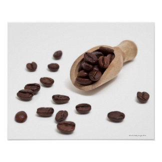 roast coffee beans with scoop poster