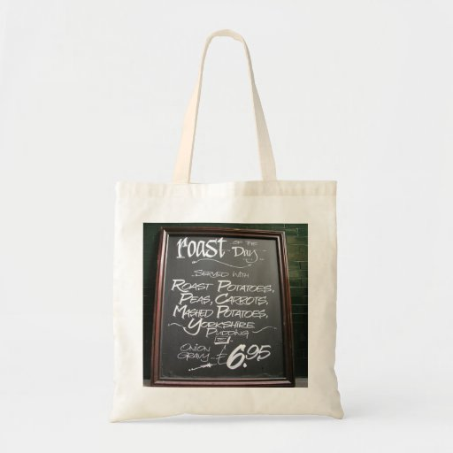 Roast of the day sign bags
