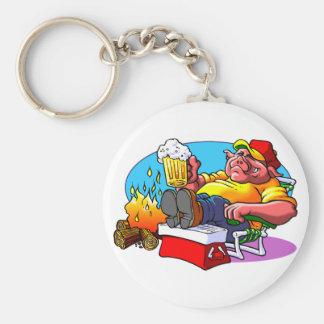 Roast Pig Basic Round Button Keychain