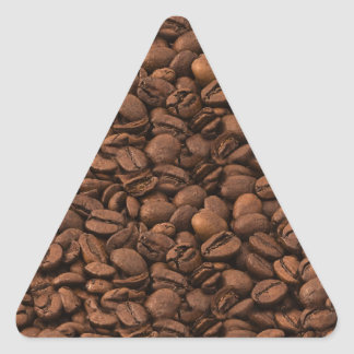 Roasted Arabica Coffee Beans - Brown Triangle Sticker