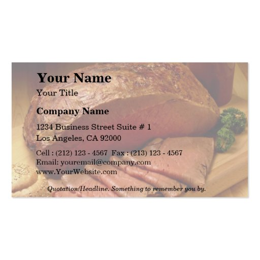 Roasted beef for food lovers business card templates