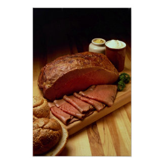 Roasted beef for food lovers posters