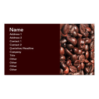 Roasted-coffee-bag1960 COFFEE BEANS GOOD MORNING H Business Cards