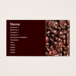 Roasted-coffee-bag1960 COFFEE BEANS GOOD MORNING H Business Card