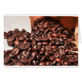 Roasted-coffee-bag1960 COFFEE BEANS GOOD MORNING H Card