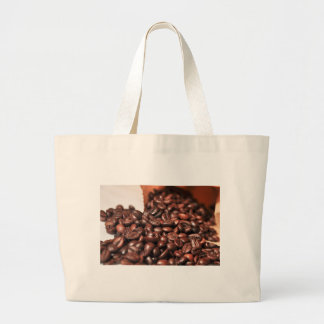 Roasted-coffee-bag1960 COFFEE BEANS GOOD MORNING H Large Tote Bag