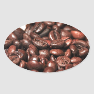 Roasted-coffee-bag1960 COFFEE BEANS GOOD MORNING H Oval Sticker