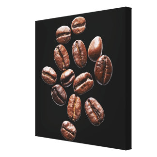 Roasted coffee beans canvas print