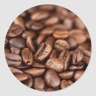 Roasted Coffee Beans Classic Round Sticker