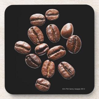 Roasted coffee beans coaster