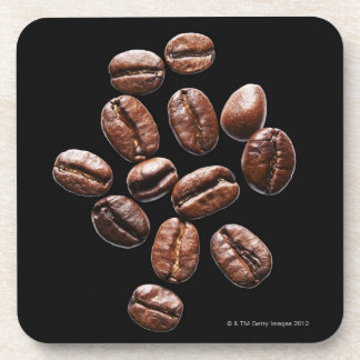 Roasted coffee beans drink coaster