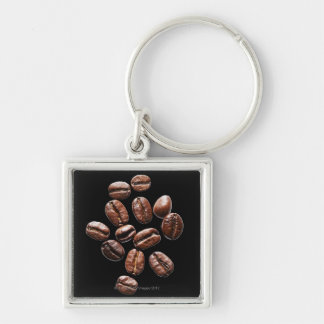 Roasted coffee beans keychain